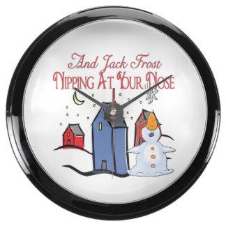 Jack Frost Fish Tank Clock