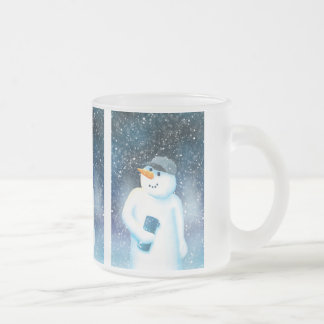 Jack Frost Frosted Glass Mug