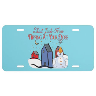Jack Frost License Plate