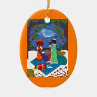 Jack Frost Ornament - Ceramic Oval