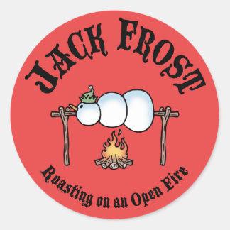 Jack Frost Roasting Round Sticker