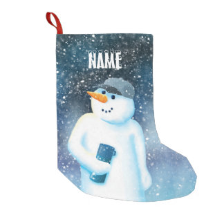 Jack Frost Small Christmas Stocking