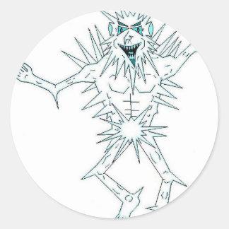 Jack Frost Round Stickers