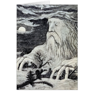 """Jack Frost"" Vintage Illustration Greeting Card"