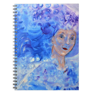 Jack Frost Winter Blue Christmas Art Fun Girl Art Notebooks