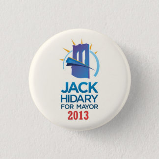 Jack Hidary for Mayor of NYC in 2013 1 Inch Round Button