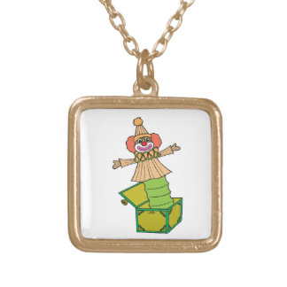 Jack in a Box Gold Plated Necklace