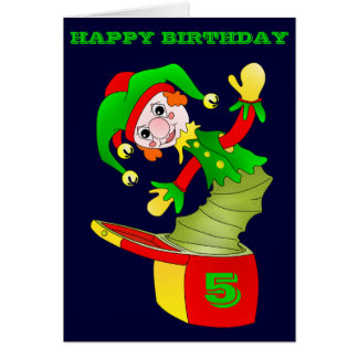 Jack in the box birthday card, customizable card