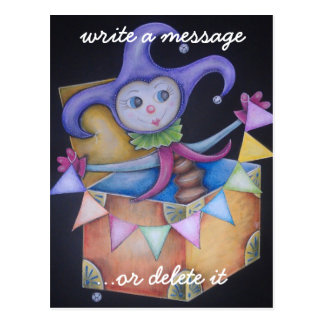 Jack in the box postcard