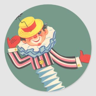 Jack in the Box Round Sticker