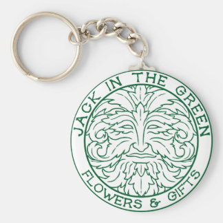 Jack in the Green Keyring Basic Round Button Keychain