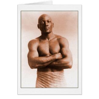 Jack Johnson American Boxer Card