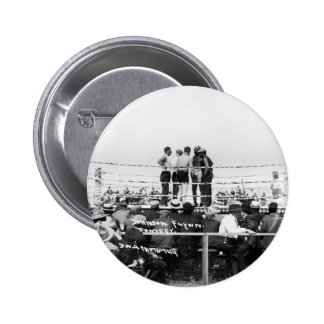 Jack Johnson vs. Fireman Jim Flynn Boxing: 1912 2 Inch Round Button