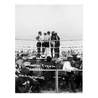 Jack Johnson vs. Fireman Jim Flynn Boxing: 1912 Postcard