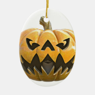 Jack O Lantern 1 Ceramic Oval Ornament