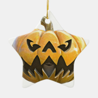Jack O Lantern 1 Ceramic Star Ornament