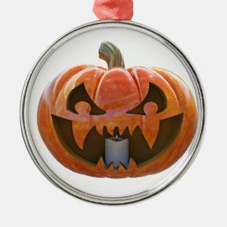 Jack O Lantern 2 Metal Ornament