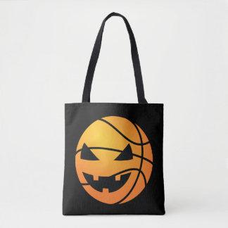 Jack O Lantern Basketball Funny Halloween Tote Bag