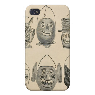 Jack O' Lantern Black Cat Vintage Lanterns iPhone 4 Cases