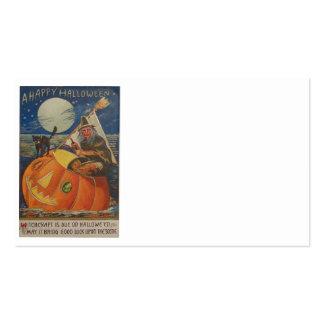 Jack O Lantern Black Cat Witch Full Moon Business Card