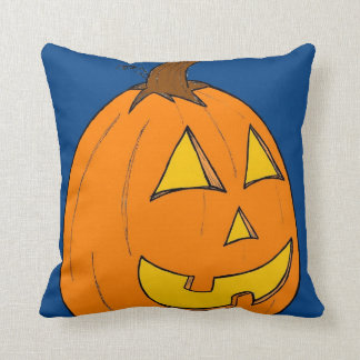 Jack o' Lantern Blue and Purple Pillow