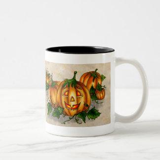 JACK-O-LANTERN by SHARON SHARPE Two-Tone Coffee Mug