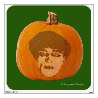 Jack o' Lantern Caligari Face, Halloween Pumpkin Wall Sticker