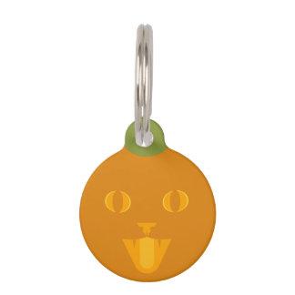Jack-O'-Lantern Cat Tag