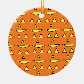 Jack-O Lantern Ceramic Ornament