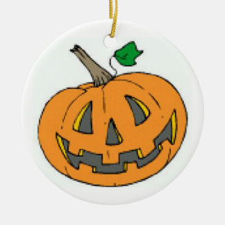 Jack-o-Lantern Ceramic Ornament