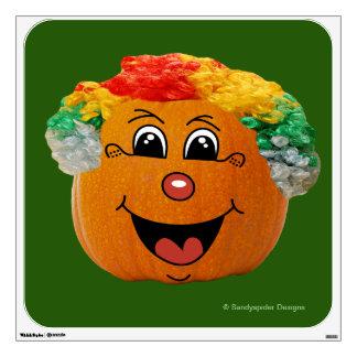Jack o' Lantern Clown Face, Halloween Pumpkin Wall Sticker