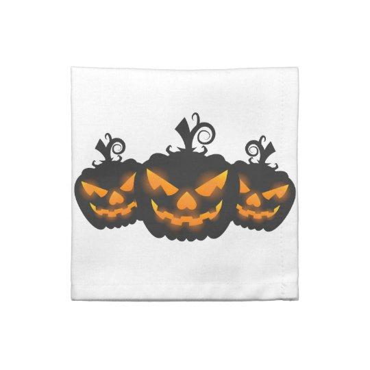 Jack-o-lantern cocktail napkins