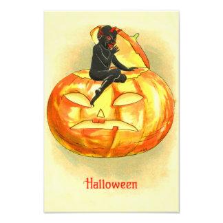 Jack O Lantern Devil Vintage Halloween Photographic Print