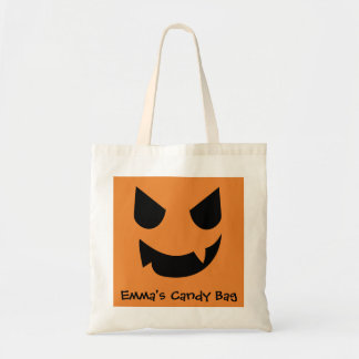 Jack-o-lantern Face Candy Bag Customizable