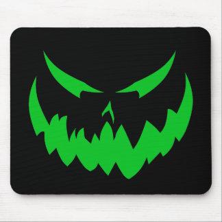 Jack-O'-Lantern Face II, Green Mouse Pad