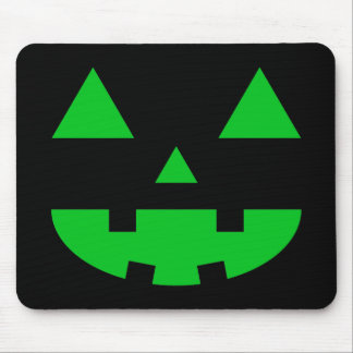 Jack-O'-Lantern Face IV, Green Mouse Pad