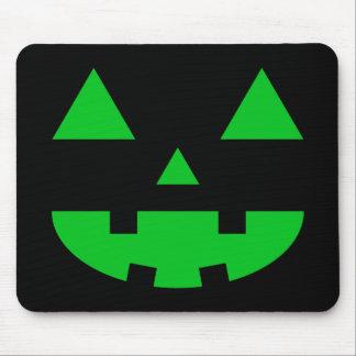 Jack-O'-Lantern Face IV, Green Mousepad