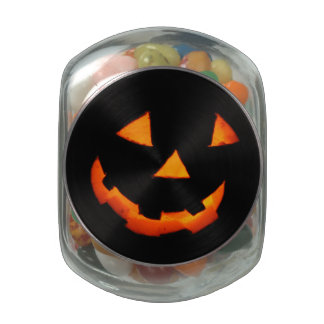 Jack-o'-Lantern Face jelly bean container