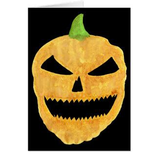 Jack-O-Lantern Face Note Card