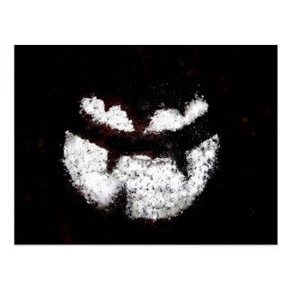 Jack O' Lantern Face Postcard