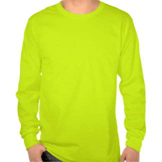 Jack-o-Lantern Face Safety Green Long Sleeve Shirt