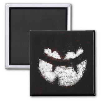 Jack O' Lantern Face Square Magnet
