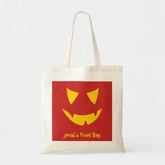 Jack-o-lantern Face Treat Bag Customizable