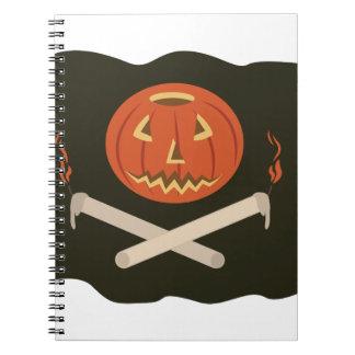 Jack-O-Lantern Flag Notebook