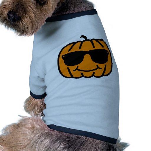 Jack-o'-lantern frais avec des lunettes de soleil vêtements pour chien