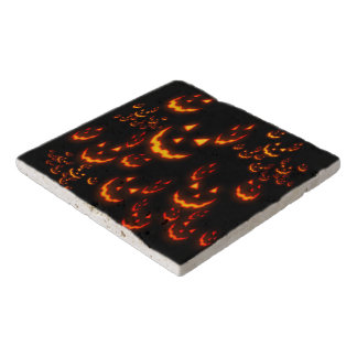 Jack O' Lantern Glowing Faces Trivet