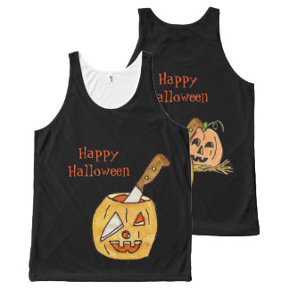 Jack-O- Lantern Halloween All-Over-Print Tank Top