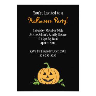 Jack 'O Lantern Halloween Party Card