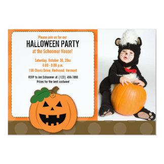 Jack O Lantern Halloween Party Photo Invitation