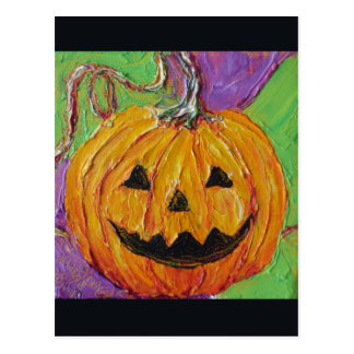 Jack-O-Lantern Halloween Post Card